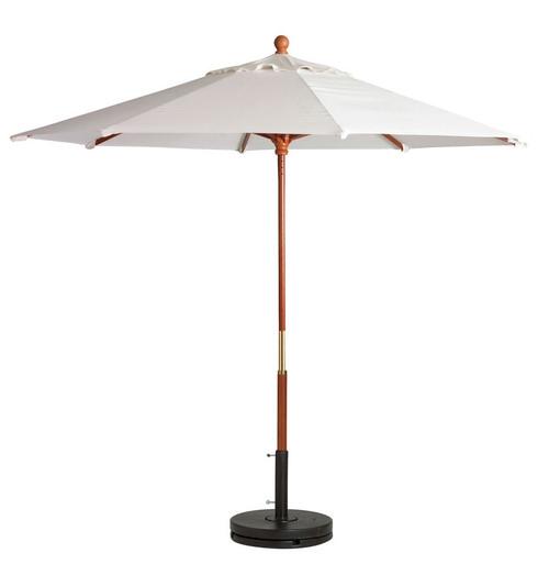 Grosfillex - Market White 9 Ft Round Umbrella