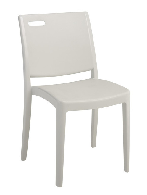 Grosfillex - Metro Glacier White Stacking Side Chair