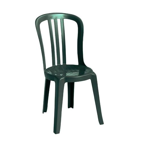 Grosfillex - Miami Bistro Amazon Green Stacking Side Chair