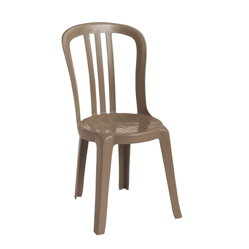 Grosfillex - Miami Bistro Taupe Stacking Side Chair