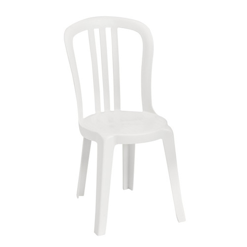 Grosfillex - Miami Bistro White Stacking Side Chair