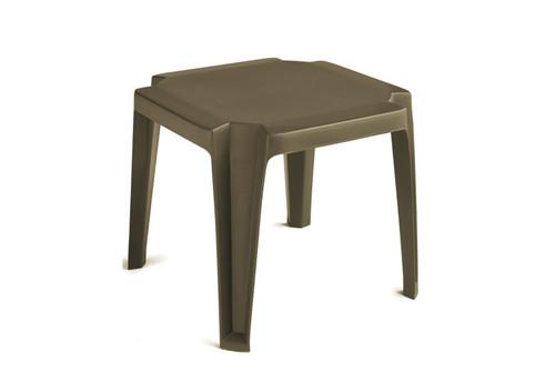 "Grosfillex - Miami Bronze Mist 17"" Square Low Outdoor Table"