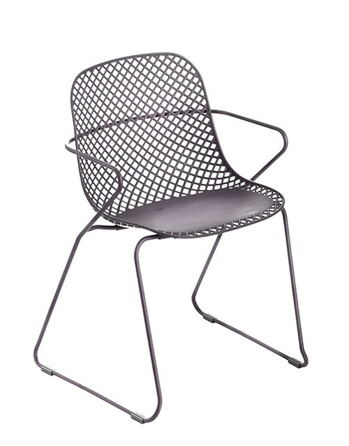 Grosfillex - Ramatuelle '73 Gris Pavement Stacking Dining Armchair