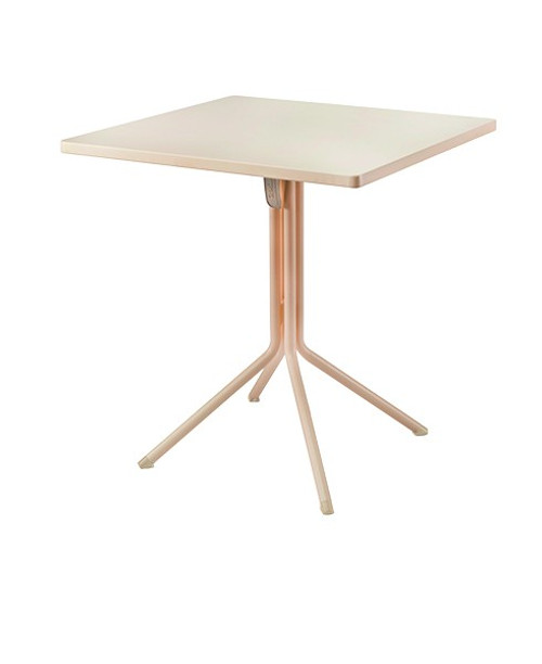 "Grosfillex - Ramatuelle '73 28"" x 28"" x 29 1/5"" Crème Absolut Duo Tilt Table"