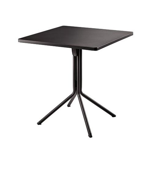 "Grosfillex - Ramatuelle '73 28"" x 28"" x 29 1/5"" Pavement Gray Duo Tilt Table"