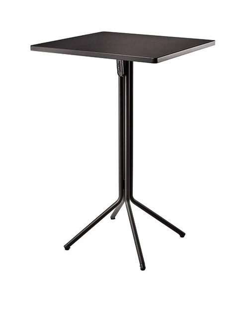 "Grosfillex - Ramatuelle '73 28"" x 28"" x43"" Pavement Gray Duo Tilt Table"