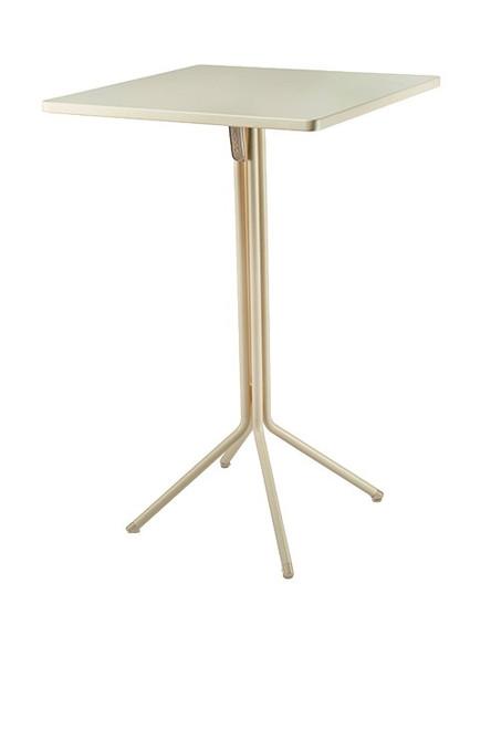 "Grosfillex - Ramatuelle '73 28"" x 28"" x 43"" Crème Absolut Duo Tilt Table"