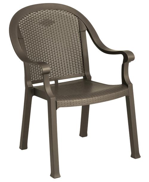 Grosfillex - Sumatra Classic Bronze Mist Stacking Dining Armchair