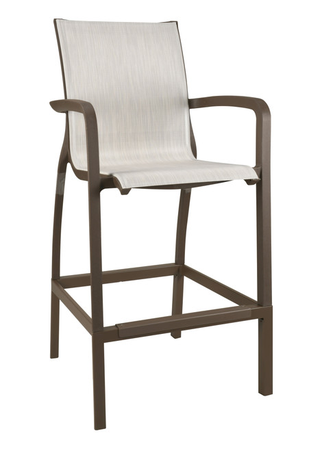 Grosfillex - Sunset Beige/ Fusion Bronze Outdoor Barstool