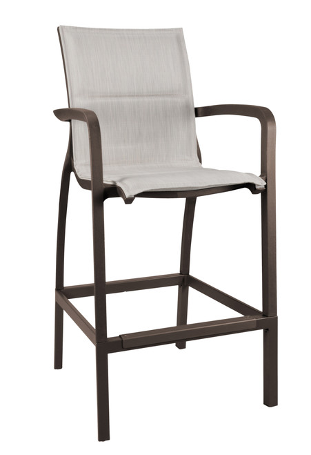 Grosfillex - Sunset Comfort Beige/ Fusion Bronze Outdoor Barstool