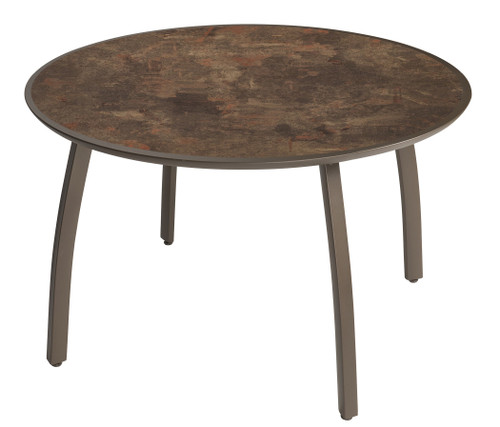 """Grosfillex - Sunset 48"""" Fusion Bronze Outdoor Round Table"""