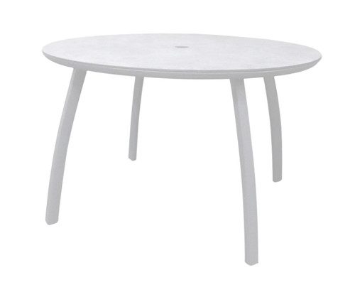 "Grosfillex - Sunset 48"" Glacier White Outdoor Round Table"