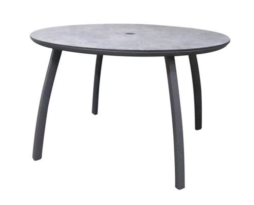 """Grosfillex - Sunset 48"""" Volcanic Black Outdoor Round Table"""