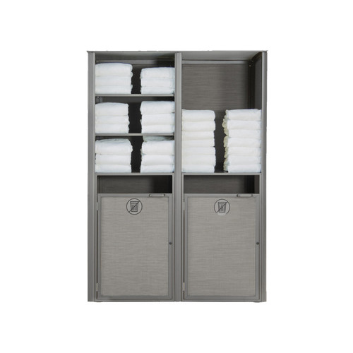 Grosfillex - Sunset Gray/ Platinum Gray Double Towel Valet