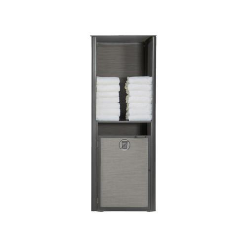 Grosfillex - Sunset Gray/ Volcanic Black Single Towel Valet