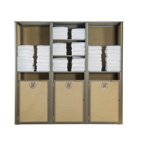 Grosfillex - Sunset Cognac/ Fusion Bronze Triple Towel Valet