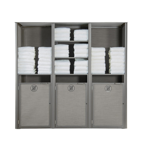 Grosfillex - Sunset Gray/ Platinum Gray Triple Towel Valet