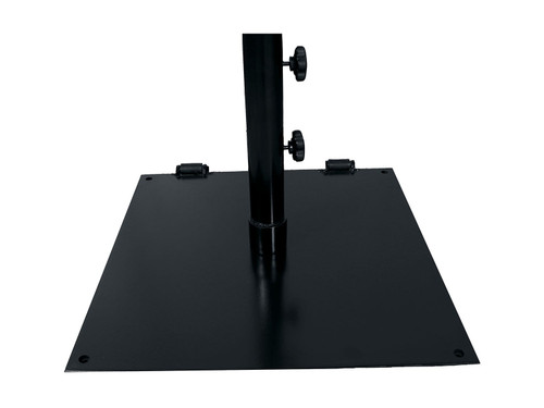 "Grosfillex - 24"" Black Flat Square Umbrella Base"