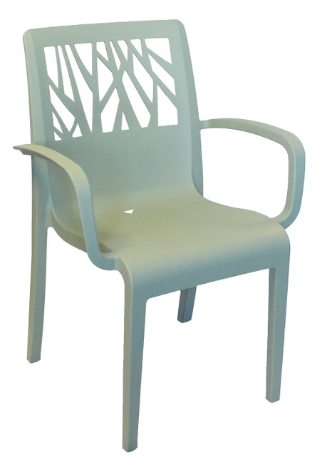 Grosfillex - Vegetal Sage Green Outdoor Stacking Armchair