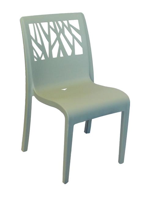 Grosfillex - Vegetal Sage Green Outdoor Stacking Sidechair