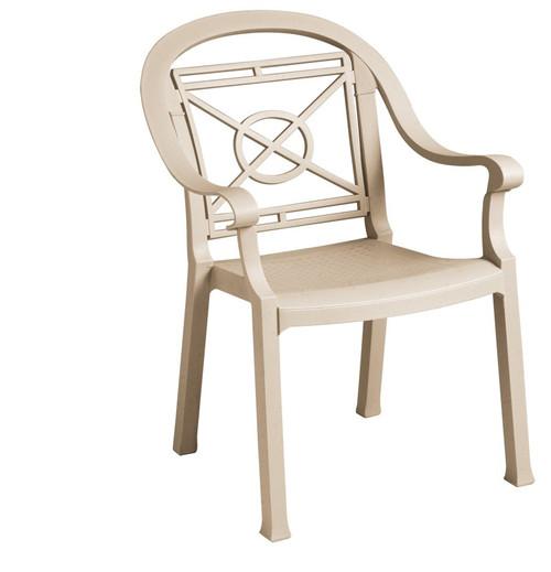Grosfillex - Victoria Sandstone Outdoor Stacking Armchair