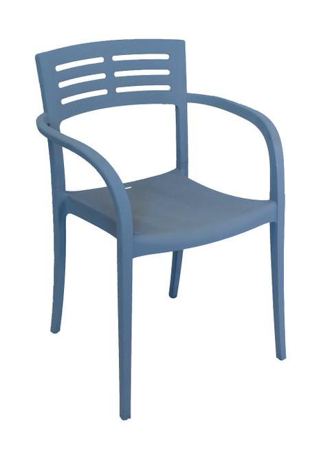 Grosfillex - Vogue Denim Blue Outdoor Stacking Armchair