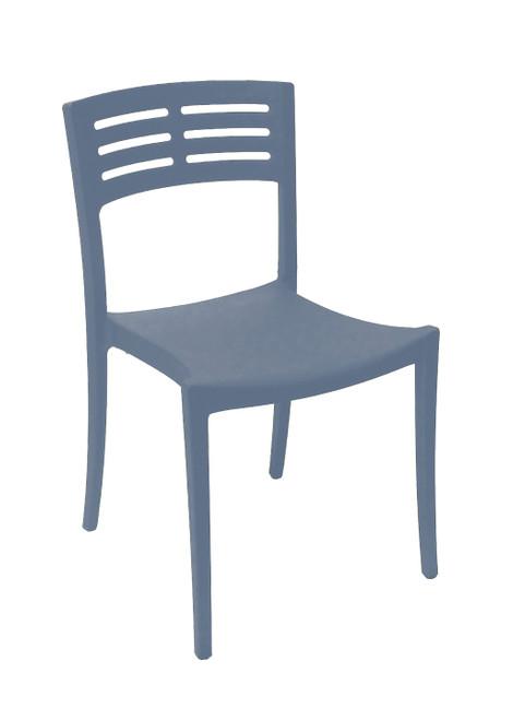Grosfillex - Vogue Denim Blue Outdoor Stacking Sidechair