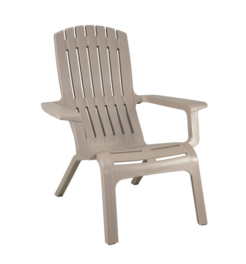 Grosfillex - Westport French Taupe Outdoor Stacking Adirondack Chair