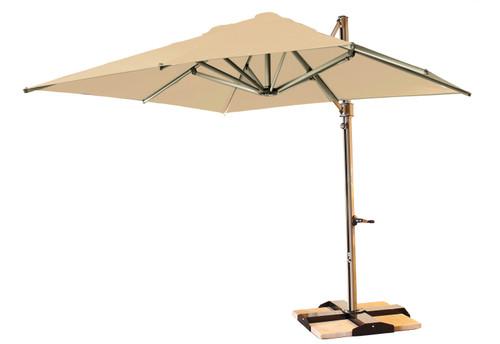 Grosfillex - Windmaster 10' Linen Cantilever Recacril® Fabric Square Umbrella