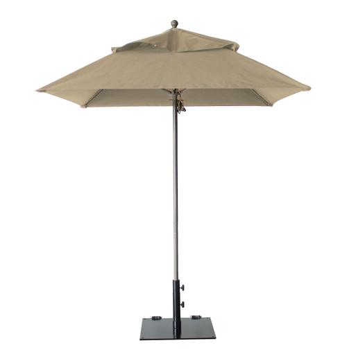 Grosfillex - Windmaster 6.5' Khaki Recacril® Fabric Square Umbrella