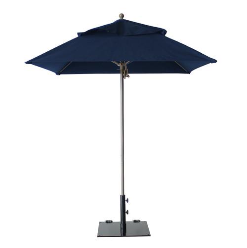 Grosfillex - Windmaster 6.5' Navy Recacril® Fabric Square Umbrella