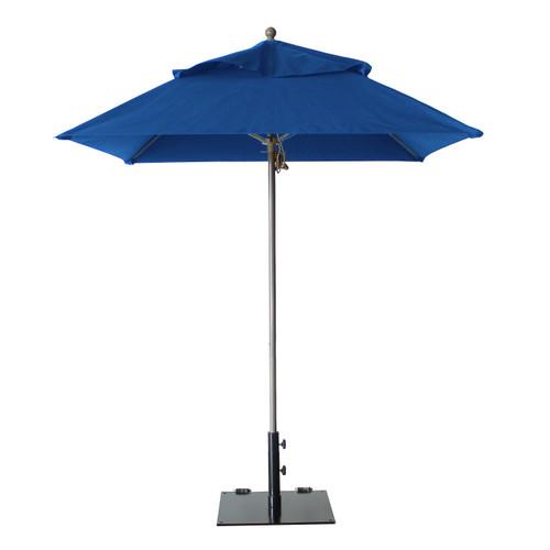 Grosfillex - Windmaster 6.5' Pacific Blue Recacril® Fabric Square Umbrella