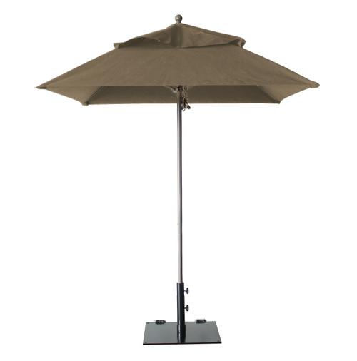 Grosfillex - Windmaster 6.5' Taupe Recacril® Fabric Square Umbrella