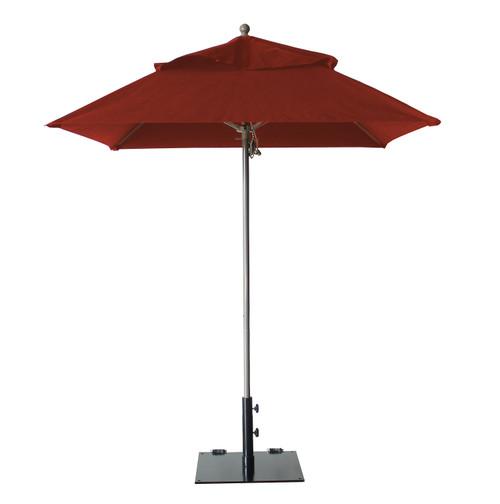 Grosfillex - Windmaster 6.5' Terra Cotta Recacril® Fabric Square Umbrella