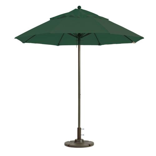 Grosfillex - Windmaster 7.5' Forest Green Recacril® Fabric Round Umbrella