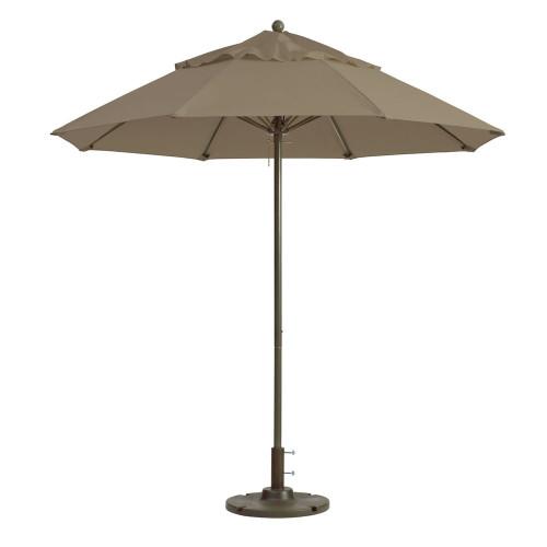 Grosfillex - Windmaster 7.5' Taupe Recacril® Fabric Round Umbrella