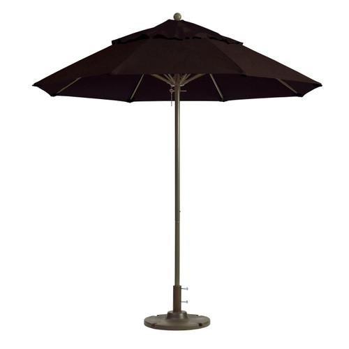 Grosfillex - Windmaster 9' Black Recacril® Fabric Round Umbrella