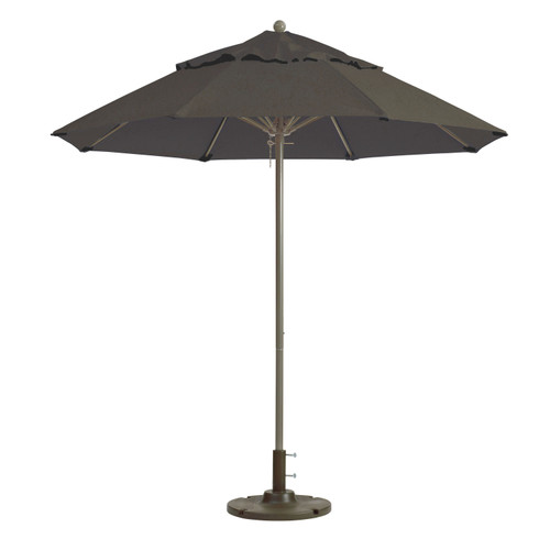 Grosfillex - Windmaster 9' Charcoal Gray Recacril® Fabric Round Umbrella