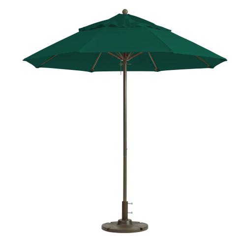 Grosfillex - Windmaster 9' Forest Green Recacril® Fabric Round Umbrella