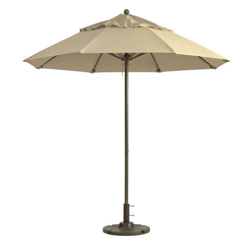 Grosfillex - Windmaster 9' Khaki Recacril® Fabric Round Umbrella
