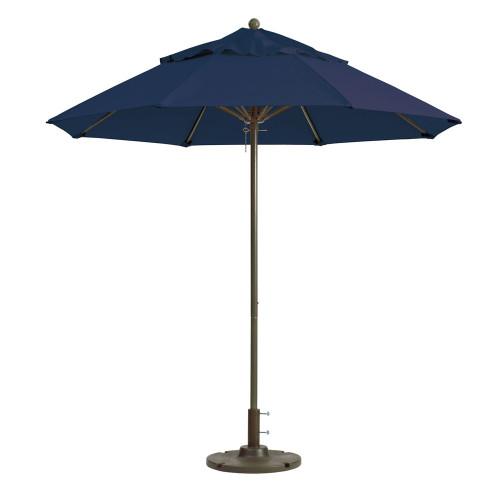 Grosfillex - Windmaster 9' Navy Recacril® Fabric Round Umbrella