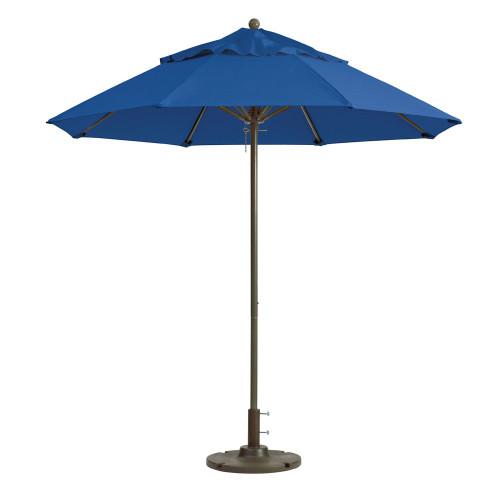 Grosfillex - Windmaster 9' Pacific Blue Recacril® Fabric Round Umbrella