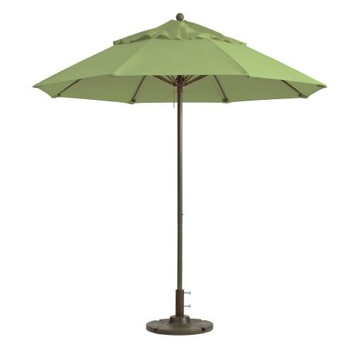 Grosfillex - Windmaster 9' Pistachio Recacril® Fabric Round Umbrella
