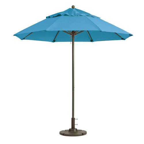 Grosfillex - Windmaster 9' Sky Blue Recacril® Fabric Round Umbrella