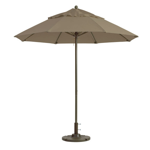 Grosfillex - Windmaster 9' Taupe Recacril® Fabric Round Umbrella