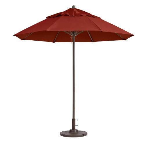 Grosfillex - Windmaster 9' Terra Cotta Recacril® Fabric Round Umbrella