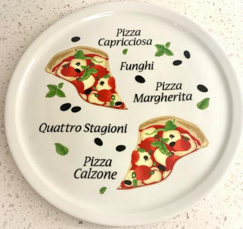 """Adamo - 12"""" Quattro Stagioni Pizza Plate - 0841G"""