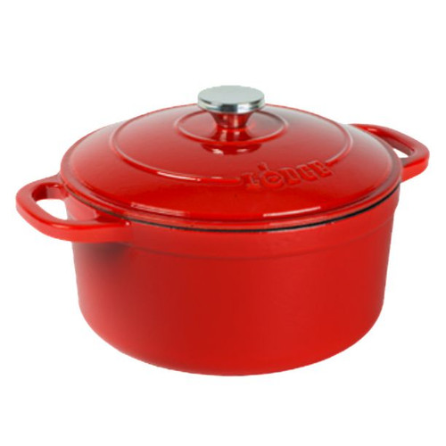 Lodge - Cherry 5.5 Qt Red Round Dutch Oven