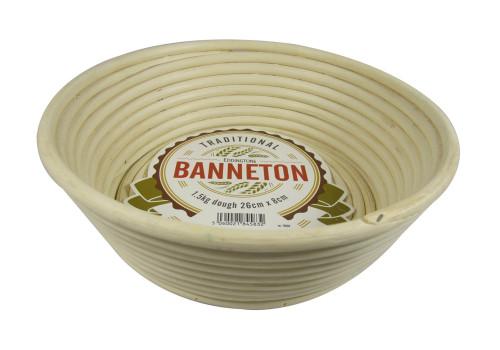 "Eddingtons - Banneton 10"" Angled Round Basket With Riser"