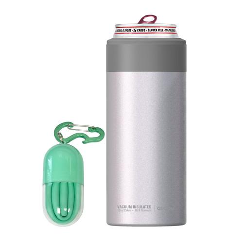 Asobu - White Insulated Slim Can Kuzie (Fits 12 Oz Slim Cans)